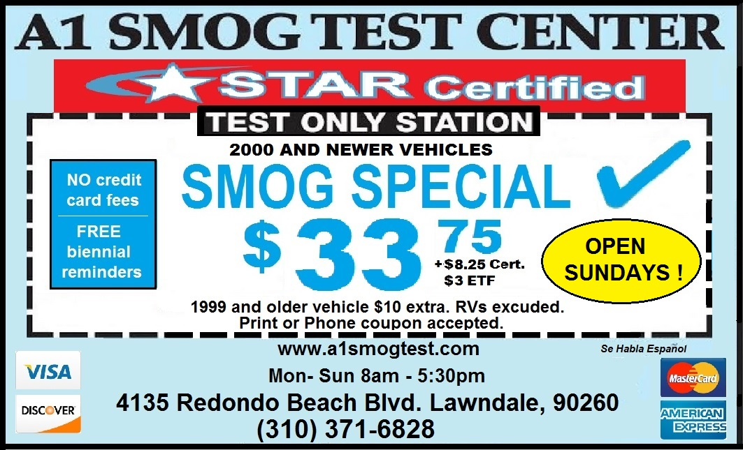 A1 Smog Test Center Coupon