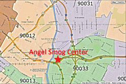 Angel Smog Zip Code Map