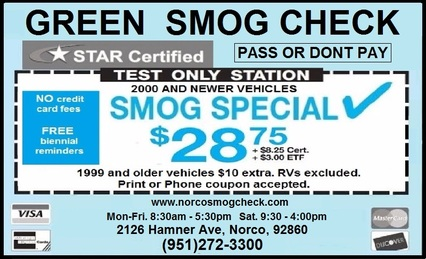Green Smog Check - Coupon