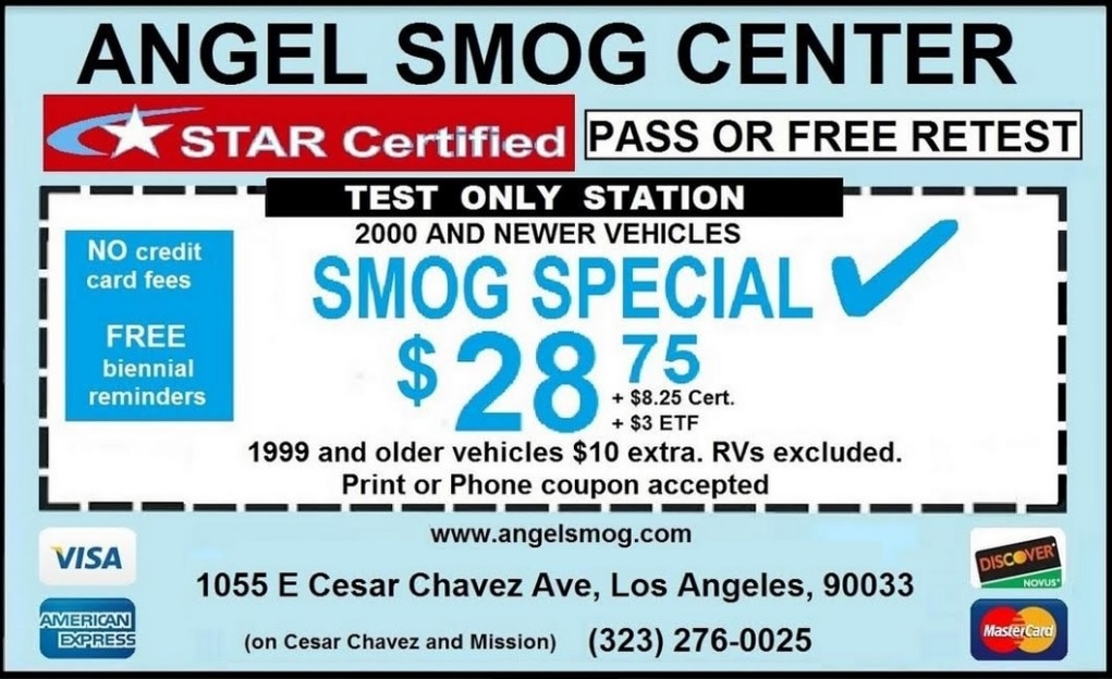 Angel Smog Center Coupon