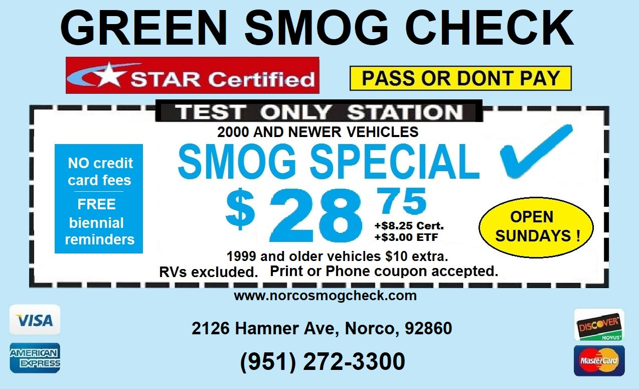 Green Smog Check Coupon