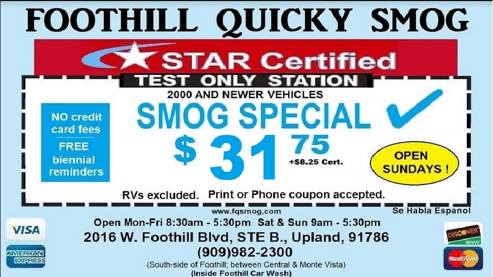 Star Certified Smog Check Test Only Stations