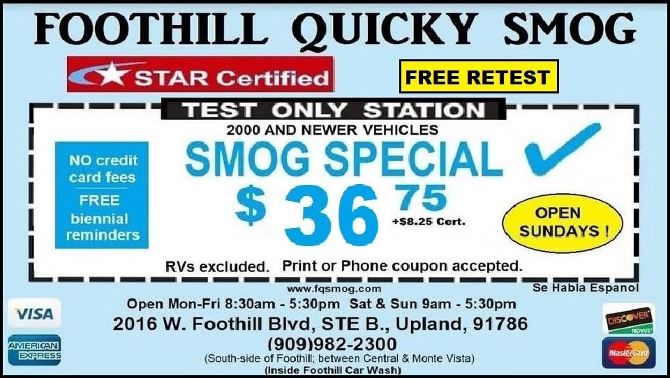 Foothill Quicky Smog - Coupon