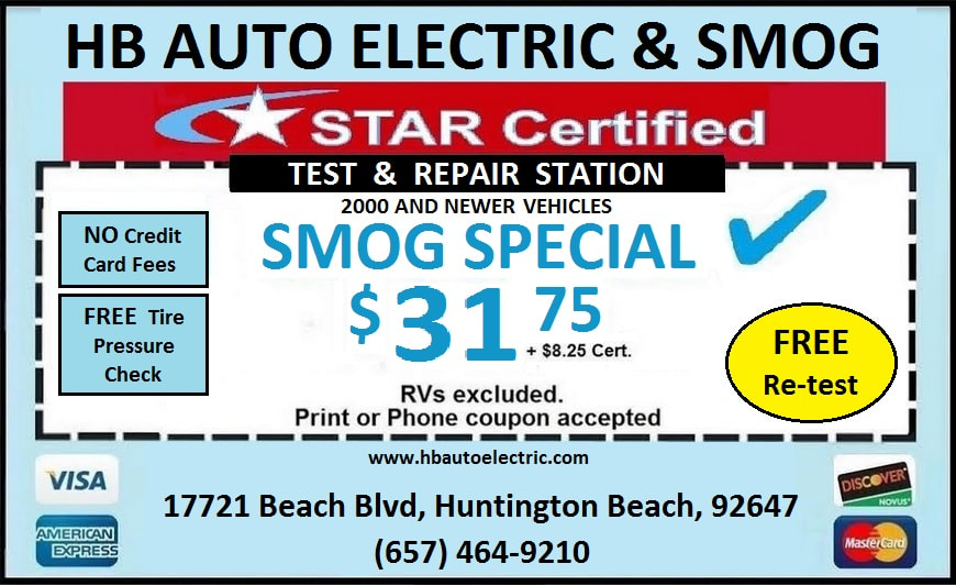 HB Auto Smog Check Coupon