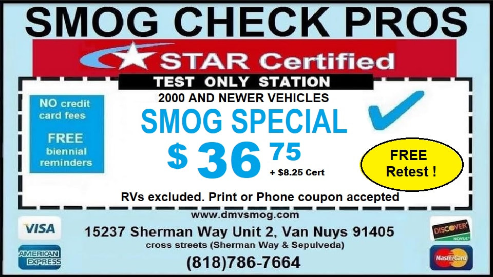 Smog Check Pros Van Nuys Coupon